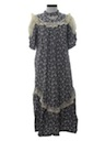 Womens Hawaiian Prairie Style Plantation Maxi Dress