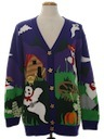 Womens Kitschy Ugly Halloween Sweater