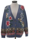 Womens Kitschy Ugly Cardigan Sweater