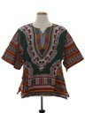 Unisex Reproduction Hippie Dashiki Style Shirt