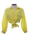 Womens Ruffled Shirt