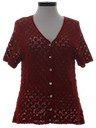 Womens Crocheted Shirt