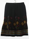 Womens Embroidered Hippie Skirt