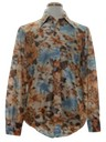 Mens Print Disco Style Nylon Shirt
