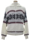 Mens Totally 80s Snowflake Ski Sweater Jacket