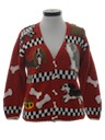 Womens Canine Knit Sweater