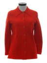 Womens Acrylic Knit Sweater Jacket