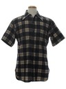 Mens Windowpane Plaid Shirt