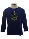 Womens or Girls Minimalist Ugly Christmas Sweater