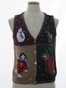 Unisex Cat-Tastic Ugly Christmas Sweater Vest