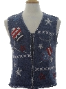 Womens Patriotic Ugly Christmas Sweater Vest