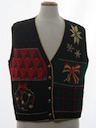 Womens Vintage Ugly Christmas Sweater Vest