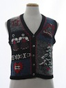 Womens Classic Ugly Christmas Sweater Vest