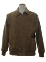 Mens Leather Paneled Cardigan Sweater