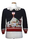 Womens Vintage Multicolored Lightup Ugly Christmas Sweater