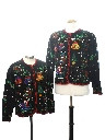 Womens Matching Pair of Two Ugly Christmas Sweaters