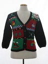 Unisex Petite Ladies, Girls or Boys Ugly Christmas Cardigan Sweater