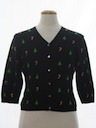 Womens or Girls Petite Ugly Christmas Cardigan Sweater