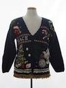 Unisex Hand Embellished Ugly Christmas Cardigan Sweater