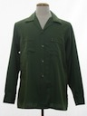 Mens Mod Cotton Gabardine Sport Shirt