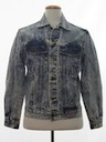 Mens Totally 80s Acid Washed Denim Jacket