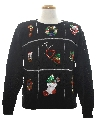 Womens Ugly Christmas Sequined Cocktail Sweater