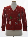 Womens Dog-gonnit Ugly Christmas Cardigan Sweater
