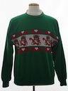 Unisex Bear-riffic Vintage Sweater Look Ugly Christmas Sweatshirt