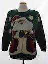 Unisex Black Santa Ugly Christmas Sweater