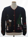 Womens Vintage Cat-Tastic Ugly Christmas Sweater