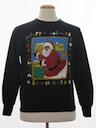Unisex Black Santa Ugly Christmas Sweatshirt