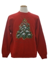 Unisex Puffy Glitter Painted Ugly Christmas Sweatshirt