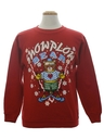 Unisex Vintage Bear-riffic Ugly Christmas Sweatshirt