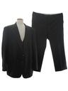Mens Disco Style Three Piece Suit