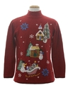 Unisex Country Kitsch Style Ugly Christmas Sweater