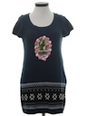 Womens Krampus Ugly Christmas Sweater A-Line Dress