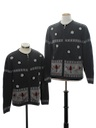 Unisex Matching Pair of Two Ugly Christmas Sweaters