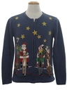Womens Western Cowboy Santa Ugly Christmas Sweater