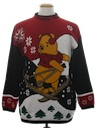 Unisex Vintage Winnie The Pooh  Ugly Christmas Sweater