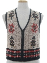 Womens Classic Look Ugly Christmas Sweater Vest