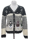 Womens/Girls Ugly Christmas Cardigan Sweater