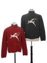 Womens Matching Set of Two Ugly Christmas Sweaters