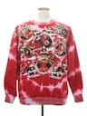 Unisex Hand Embellished Tie-Dyed Ugly Christmas Sweatshirt