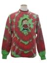 Unisex Hand Tie-Dyed Cat-Tastic Ugly Christmas Sweatshirt