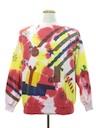 Unisex Vintage Hand Embellished Tie-Dyed Ugly Christmas Sweatshirt