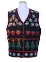 Unisex Amber Lightup Ugly Christmas Sweater Vest