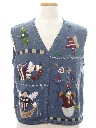 Womens Patriotic Country Kitsch Ugly Christmas Sweater Vest