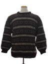 Mens Wool Snowflake Ski Sweater