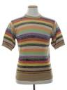 Mens Mod Style Knit Shirt