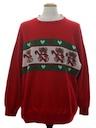 Unisex Vintage Bear-riffic Ugly Christmas Sweater Look Sweatshirt